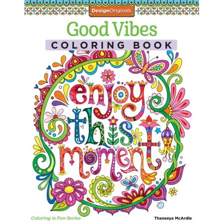 Good Vibes Adult Coloring Book (Coloring Pages Halloween Printables)