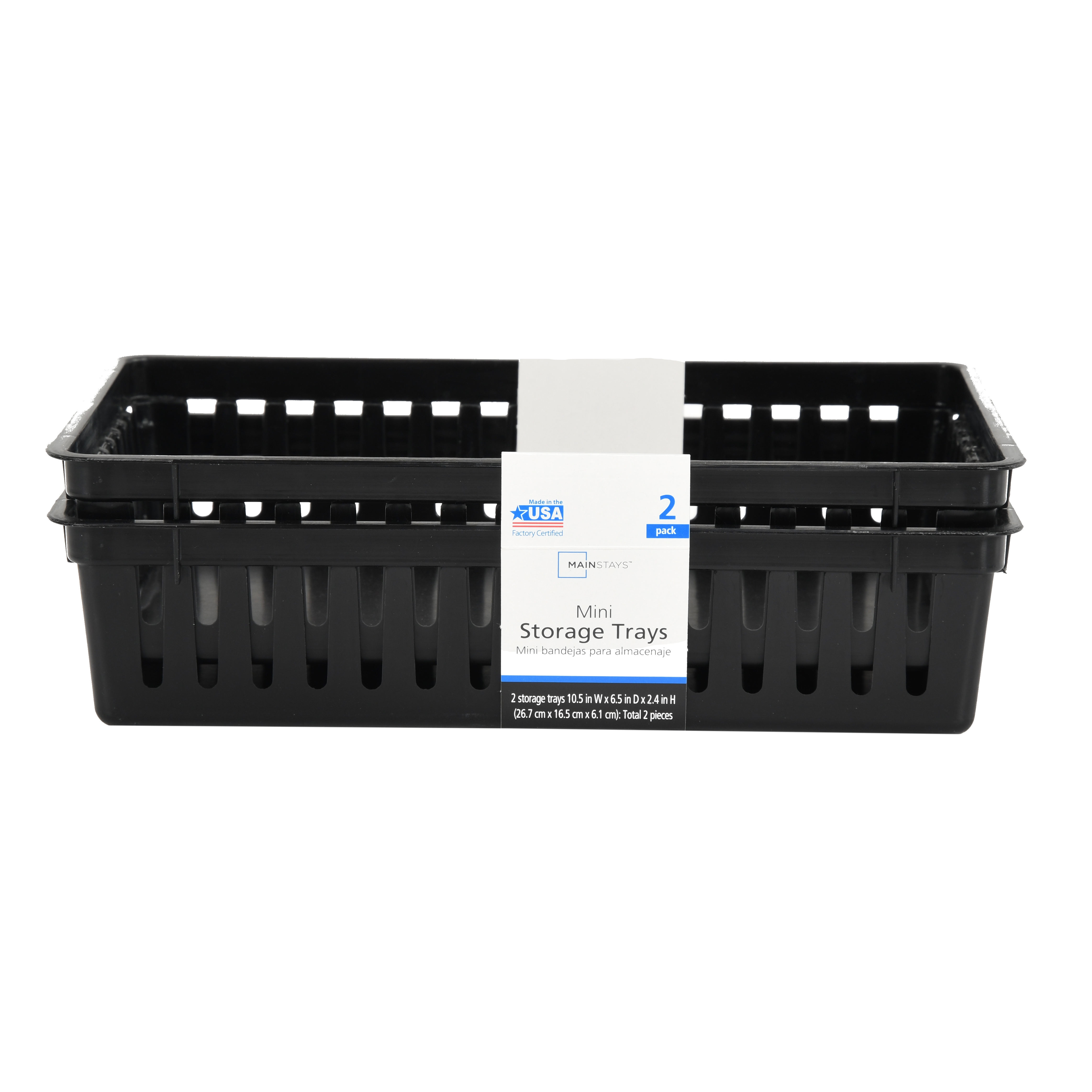 Mainstays Ms 2pk Rectangle Mini Bin