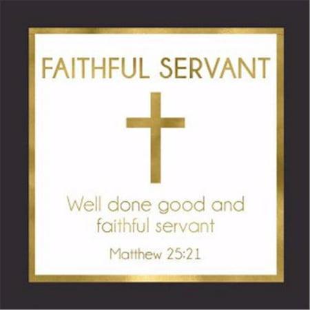 Cards-Gift-Faithful Servant (Matthew 25:21) (3  X 3 )