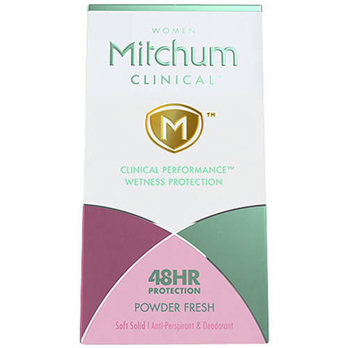 Mitchum Women Clinical Powder Fresh Soft Solid Anti-Perspirant & Deodorant, 1.6 oz