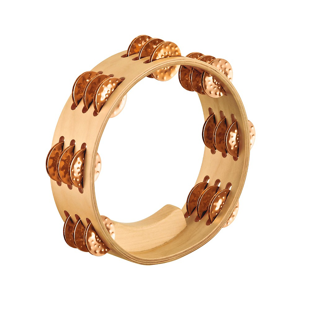 Meinl Artisan Compact Maple Wood Tambourine Three Rows Hammered Cymbal Bronze 8 in. by Meinl