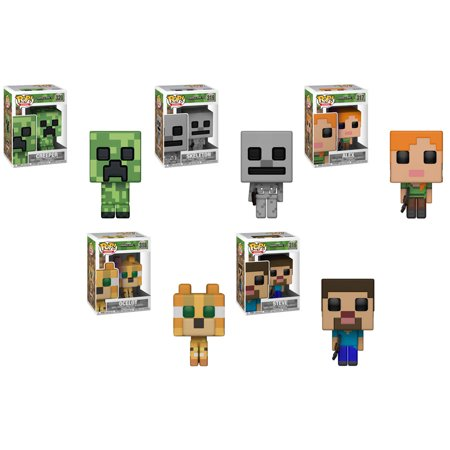 0e25fa979532 Funko POP! Games - Minecraft Vinyl Figures - SET OF 5 (Alex