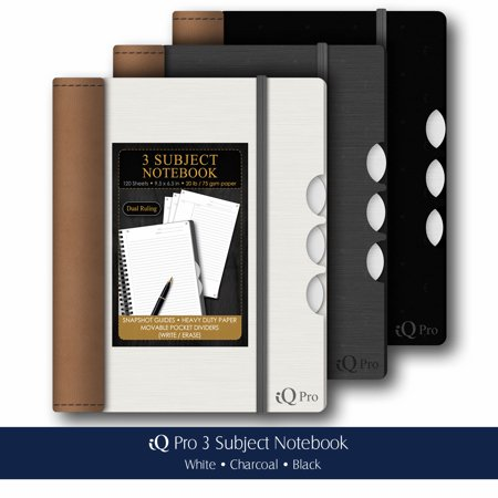 iScholar's Executive Series iQ Pro 3-Subject Notebook - Assorted