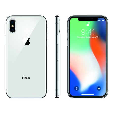 Straight Talk Prepaid Apple iPhone X 64GB, Silver