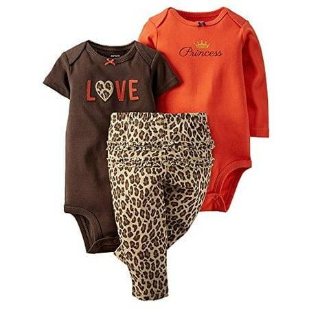 d9cc56ac24b Carter s - Carter s Baby Girls  3-Piece Turn-Me-Around Pant Set - Leopard  Love - Newborn - Walmart.com