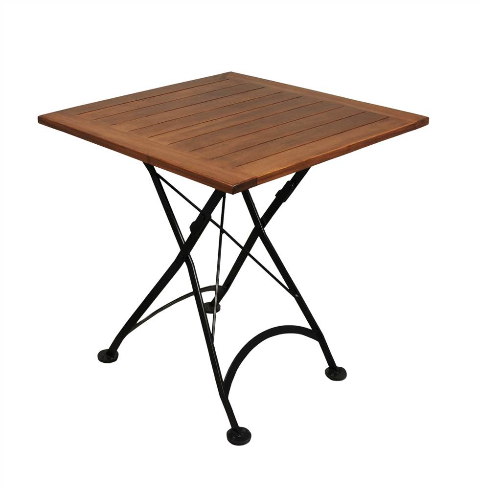 European Cafe Square Folding Table