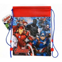 Sling Bag Tote Drawstring Non-Woven Avengers Black Panther Widow Ant-Man NEW