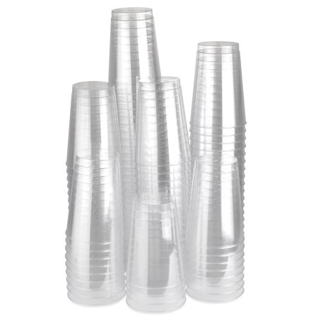 Plastic Crystal Clear 12 oz disposable Tumblers Cups Drink Cup Wedding Party (500 Pcs)