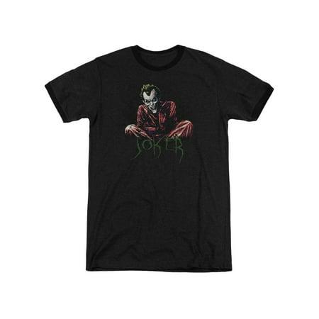 Asylum Straitjacket (Batman DC Comics Joker Arkham Asylum Straight Jacket Adult Ringer T-Shirt)