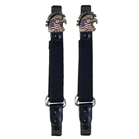US Veterans Motorcycle Pants Clips Boot Bungee Riding Straps ()