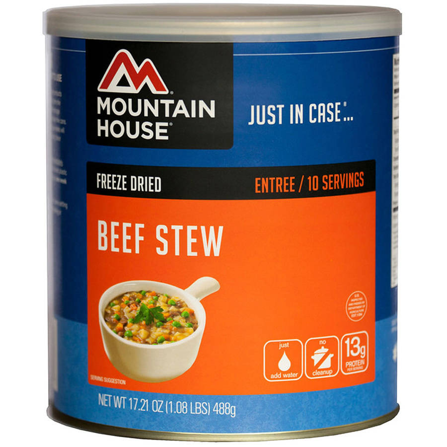 Mountain House Freeze Dried Beef Stew Can