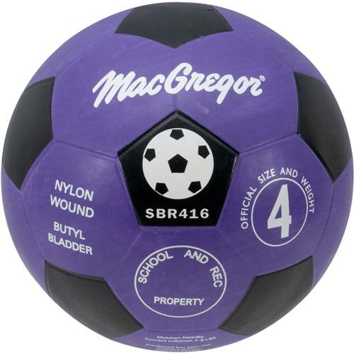 MacGregor Rubber Soccer Ball, Size 4