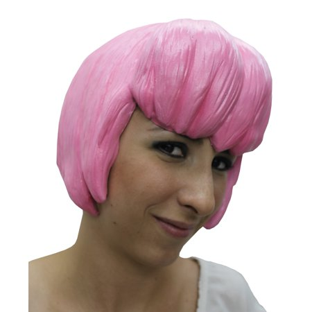 Anime Halloween Crossovers (Pink Anime Wig 6 Latex Adult Halloween)