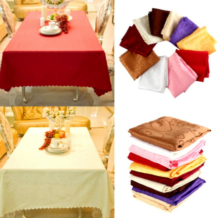 "55"" Square Tablecloth Elegant Flower Design for Home Dining Kitchen Wedding Banquet Party Table Cover"