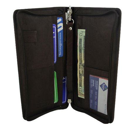 Gem Avenue Travel Passport Boarding Pass Ticket Black Wallet Airline Ticket Wallet