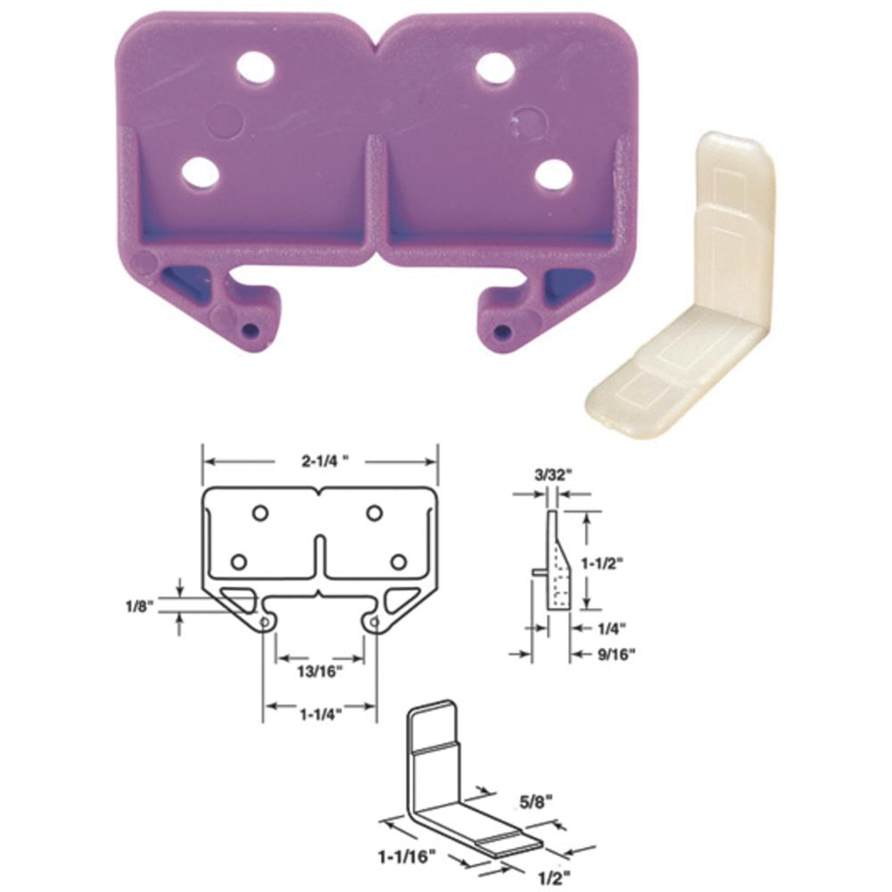 Prime Line Products 22793 1-3/16-In. White Drawer Track Guide