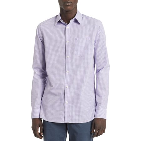 New Essentials Gingham Slim-Fit Button-Down Shirt