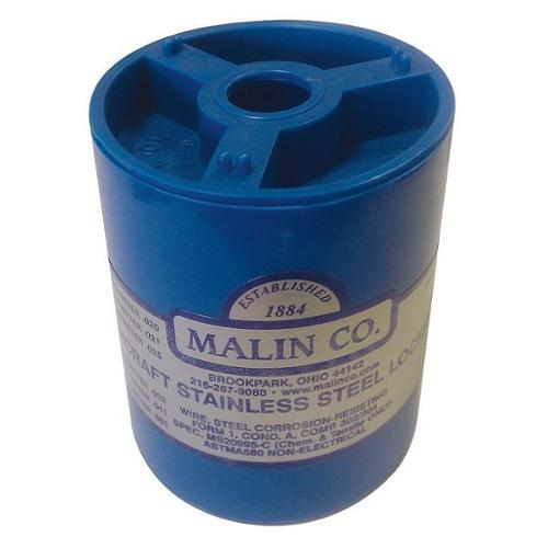 MALIN COMPANY 34-0250-1BLC Lockwire,Canister,0.025 Dia,596 ft.