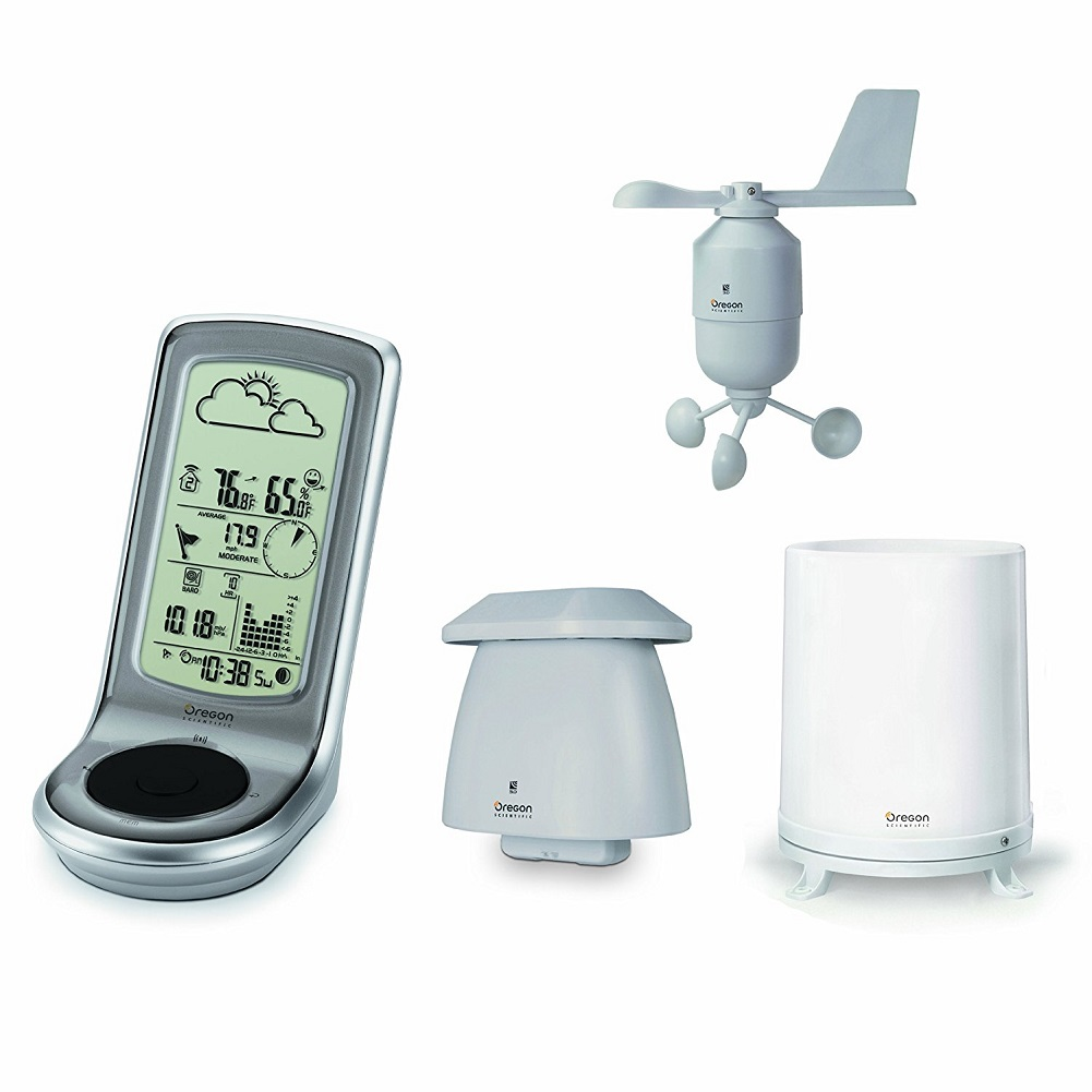 Oregon Scientific Advanced Weather Station with Wireless Sensor Set & Mounting