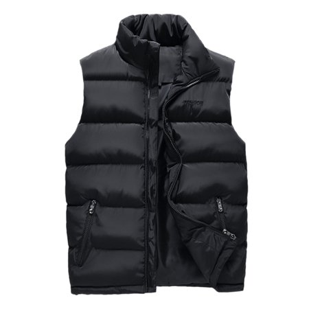 Winter Men's Warm Down Quilted Vest Sleeveless Padded Jacket Coat Outwear