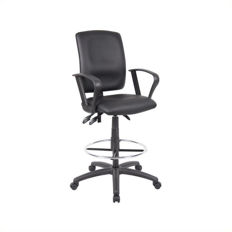 Boss Office Products Black Multifunctional Drafting Stool