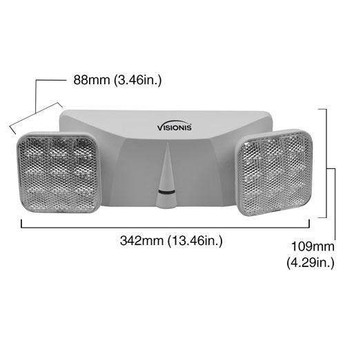 UL Listed Adjustable Round Head 90 Minute Battery Backup Visionis 4 Pack FPC-7413 VIS-ELR LED Emergency Exit Light
