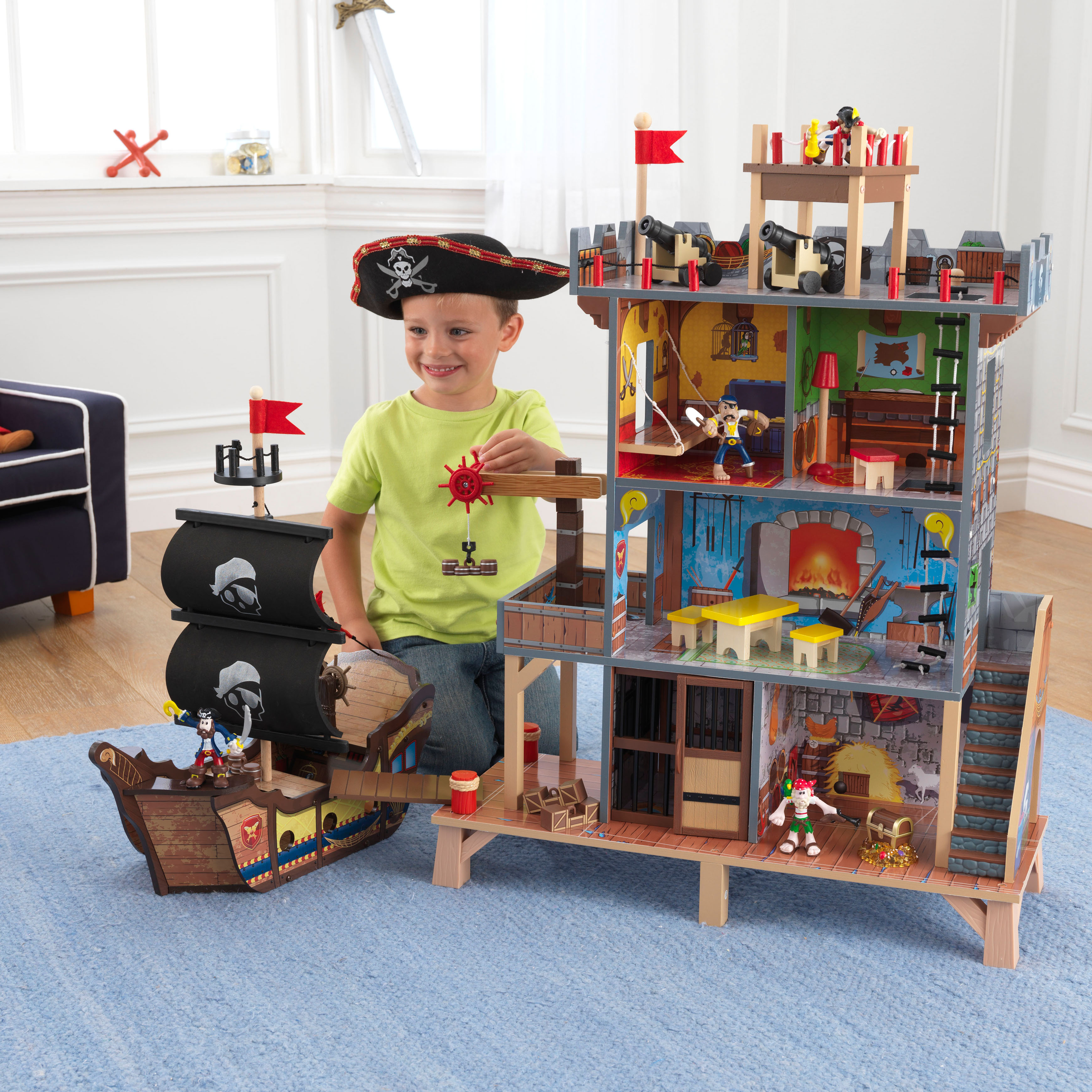 KidKraft Pirate's Cove Play Set with 17 Accessories Included by KidKraft