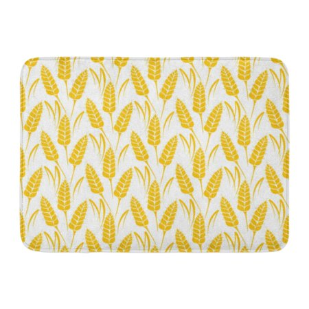 Glowing Products (GODPOK Silhouettes of Wheat Ears Whole Grain Natural Organic for Bakery Bread Products Growing Rye Field Rug Doormat Bath Mat 23.6x15.7)