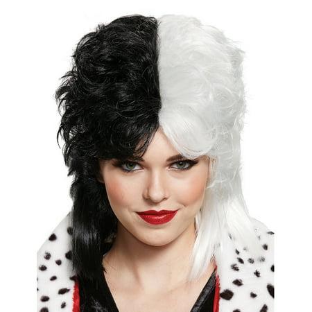 CRUELLA DE VIL DELUXE AD WIG - Cruella De Vil Halloween Hair