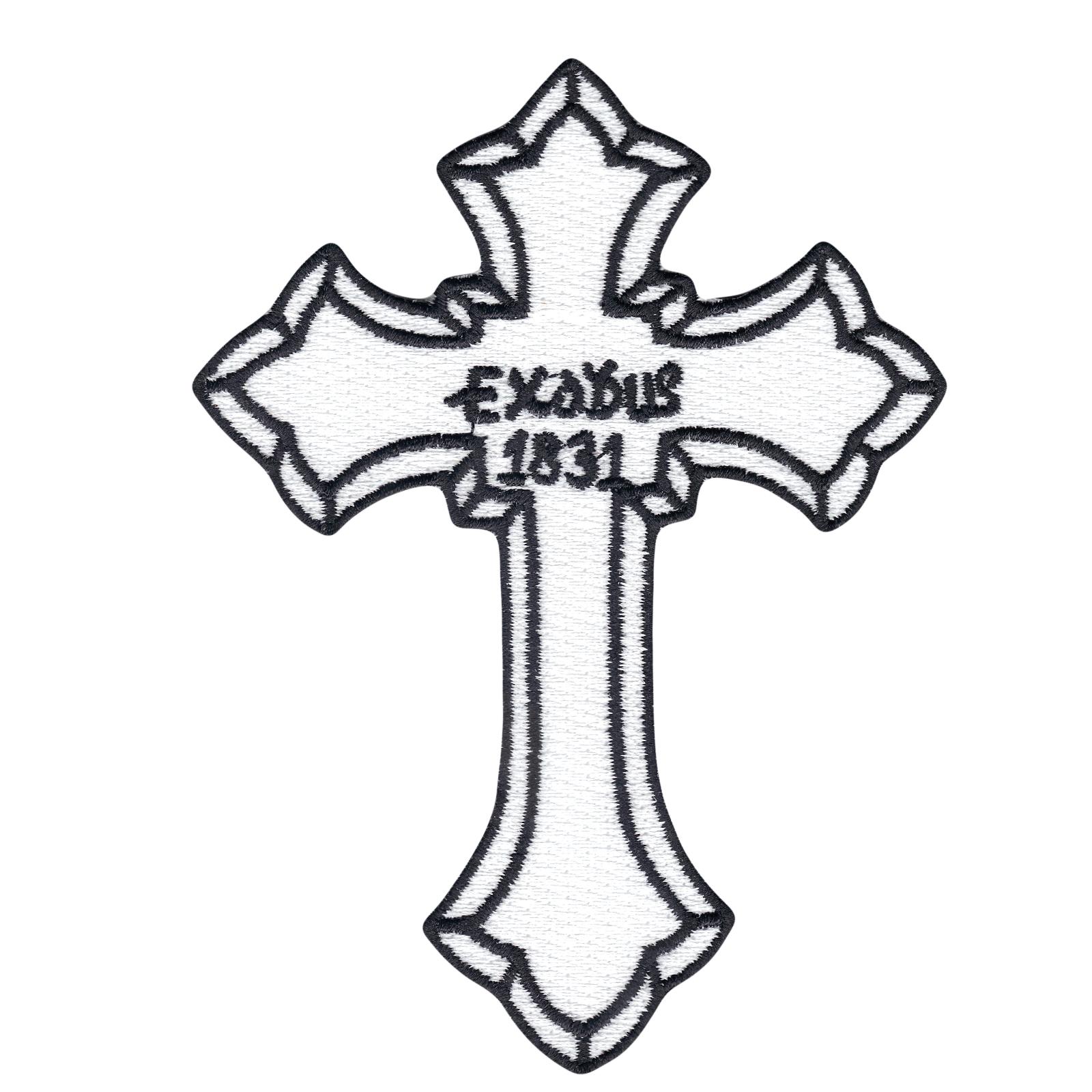 Exodus 1831 Cross Iron On Patch