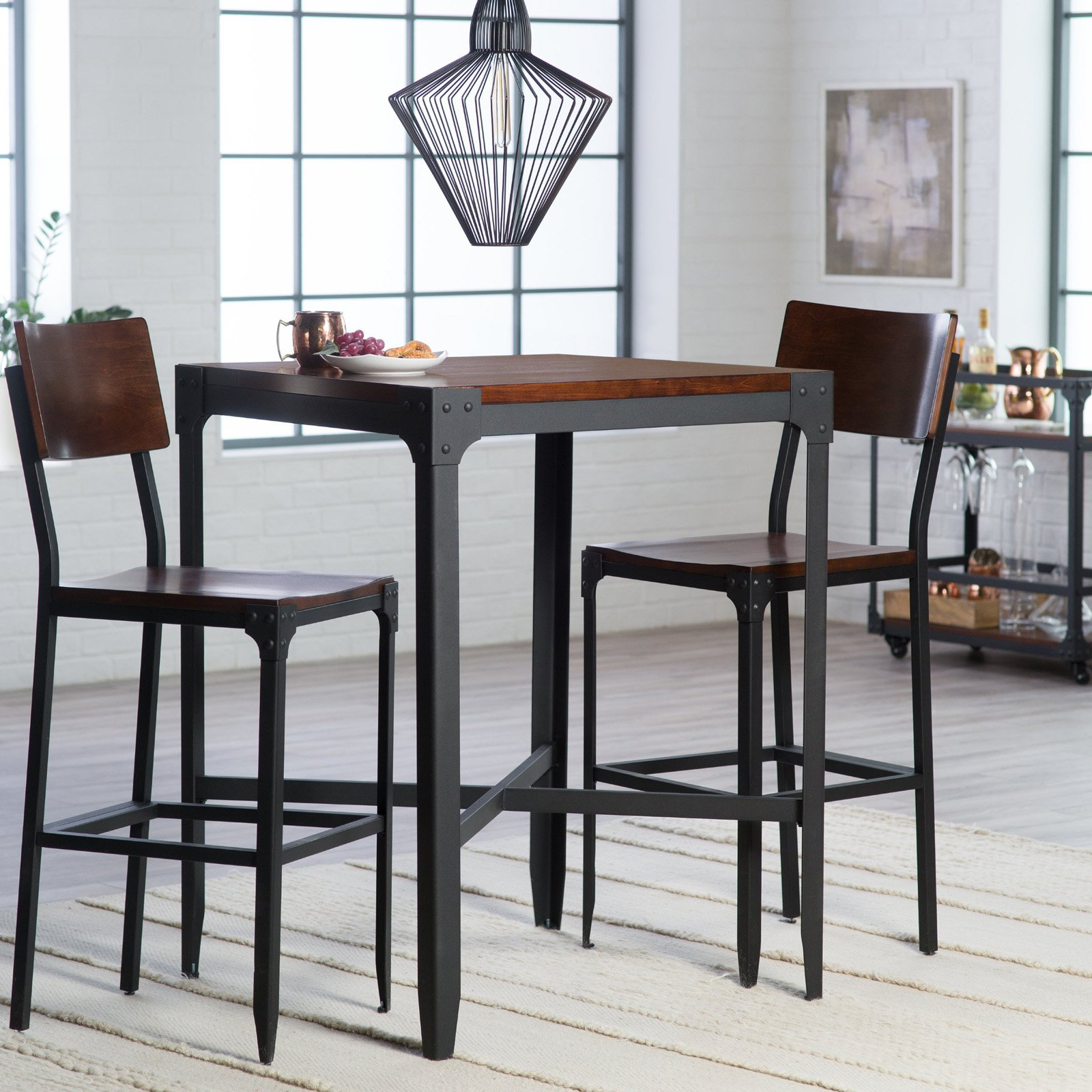 Belham Living Trenton 3 Piece Pub Table Set Walmart