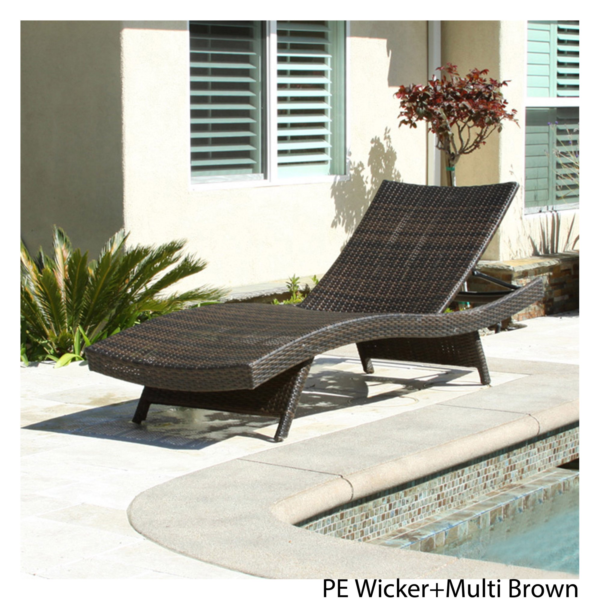 Outdoor Brown Wicker Lounge Chair