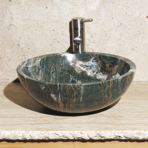Allstone Group Round Vessel Bathroom Sink