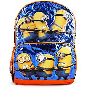 "Backpack - Despicable Me - Minions Shiny Blue 16"" School Bag 091082"