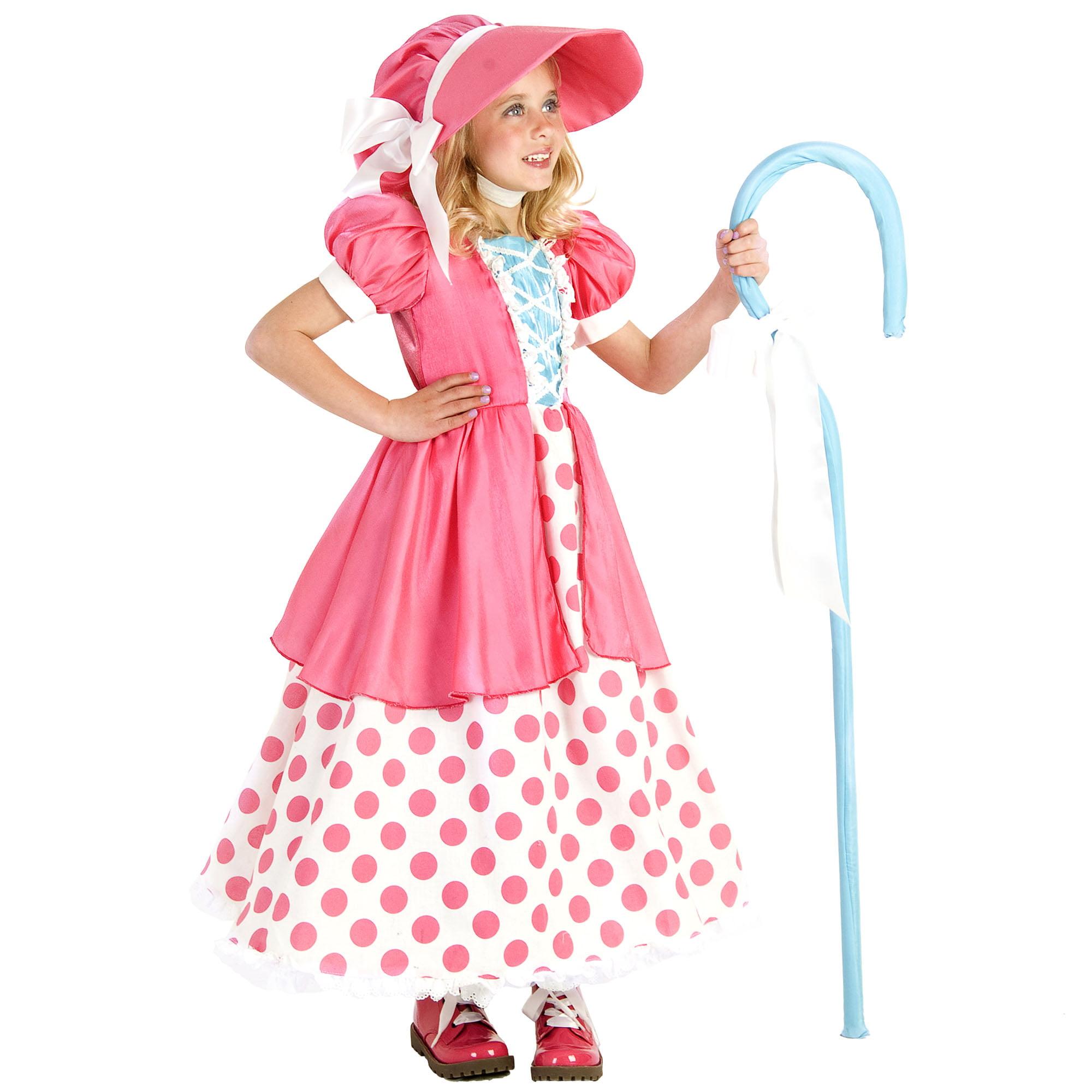 Princess paradise premium polka dot bo peep child costume Child Xs (4)