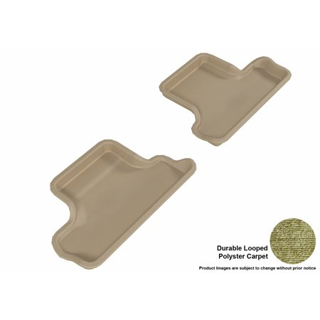 3D MAXpider 2007-2014 MINI Cooper-S Convertible Second Row All Weather Floor Liners in Tan Carpet