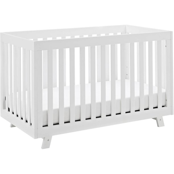 Storkcraft Beckett 3 in 1 Convertible Baby Crib, White
