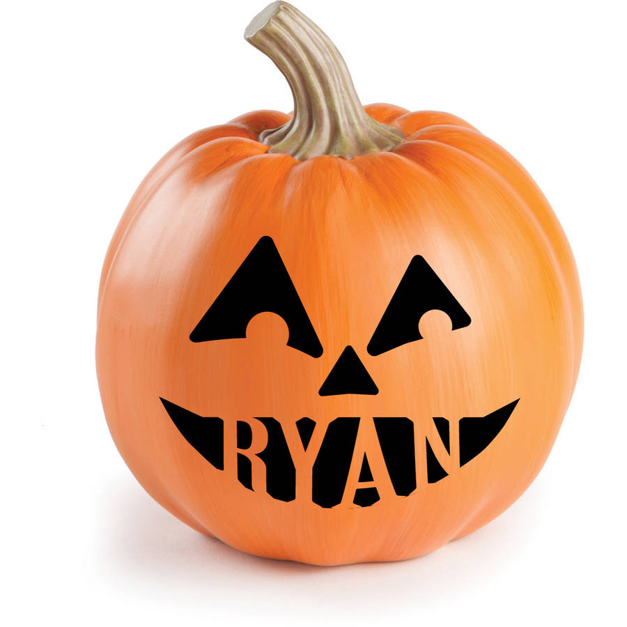 Personalized Halloween Pumpkin Decorations