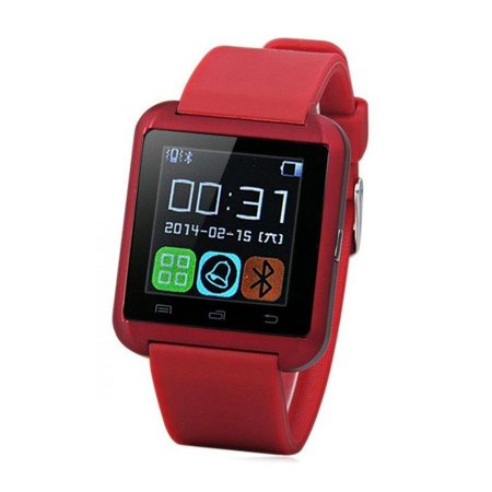 U8 Red Bluetooth Smart Wrist Watch Phone mate for Android Samsung HTC LG Touch Screen with Camera Amazingforless