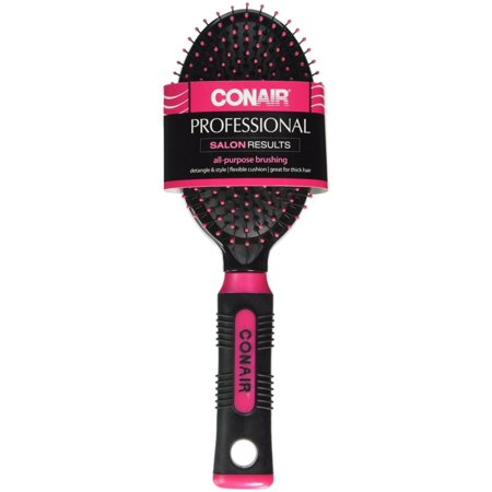 - Conair Professional Round Flat Brush, Colors May Vary 1 ea (Pack of 2)