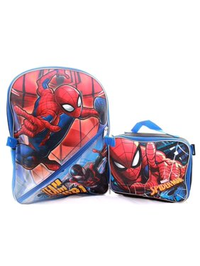 Marvel Spiderman Backpack W/ Detachable Insulated Lunch Box…