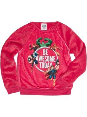 Girls' Be Awesome Today Long Sleeve Crew Neck Sweatshirt