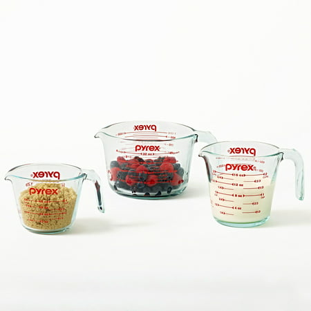 Pyrex Glass 3-Piece Measuring Cup Set