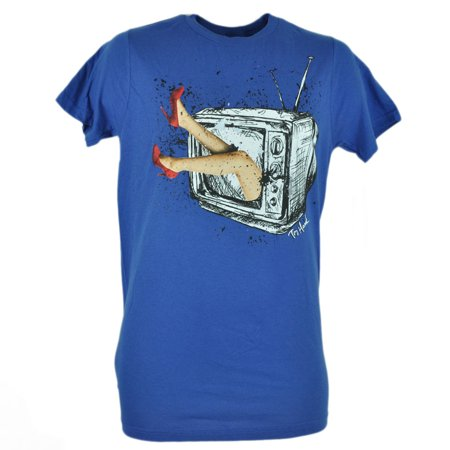 Tony Hawk Clothing Brand Graphic Girl TV Sketch Tshirt Blue Adult Tee 2XLarge](Tony Hawk Halloween)