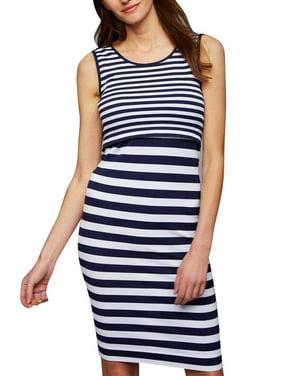 1fc1c9e98a4 Product Image JMAMIR Women s Maternity Striped Sleeveless Double Layered  Nursing Breastfeeding Tank Dress