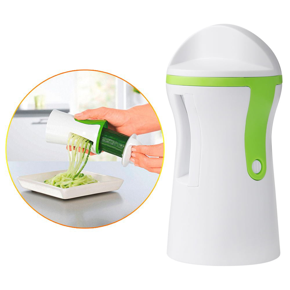 Details about  /Spiralizing Food Processor Vegetable Chopper for Slicing With Four Blade Shapes