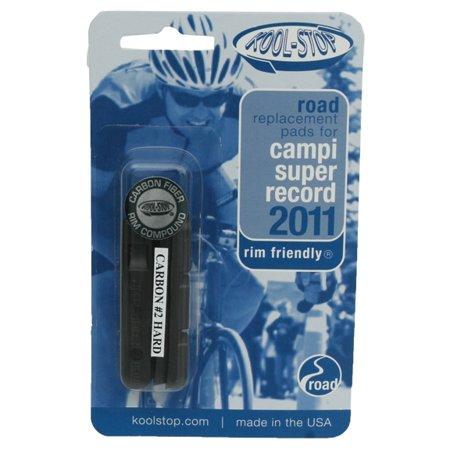 Kool-Stop Super Record Road Cartridge Inserts Carbon #2 Pr (Campy Super Record)