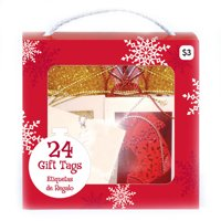Holiday Time Purse Tags, Red/White, 24-Pack