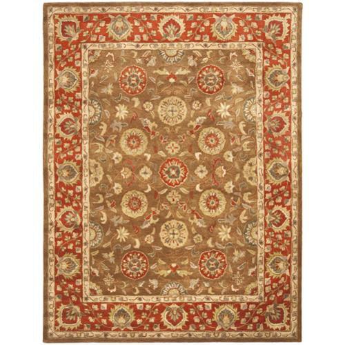 Heritage Rugs Unlimited Safavieh Handmade Heritage Beige/ Rust Wool Rug (5' x 8 ...