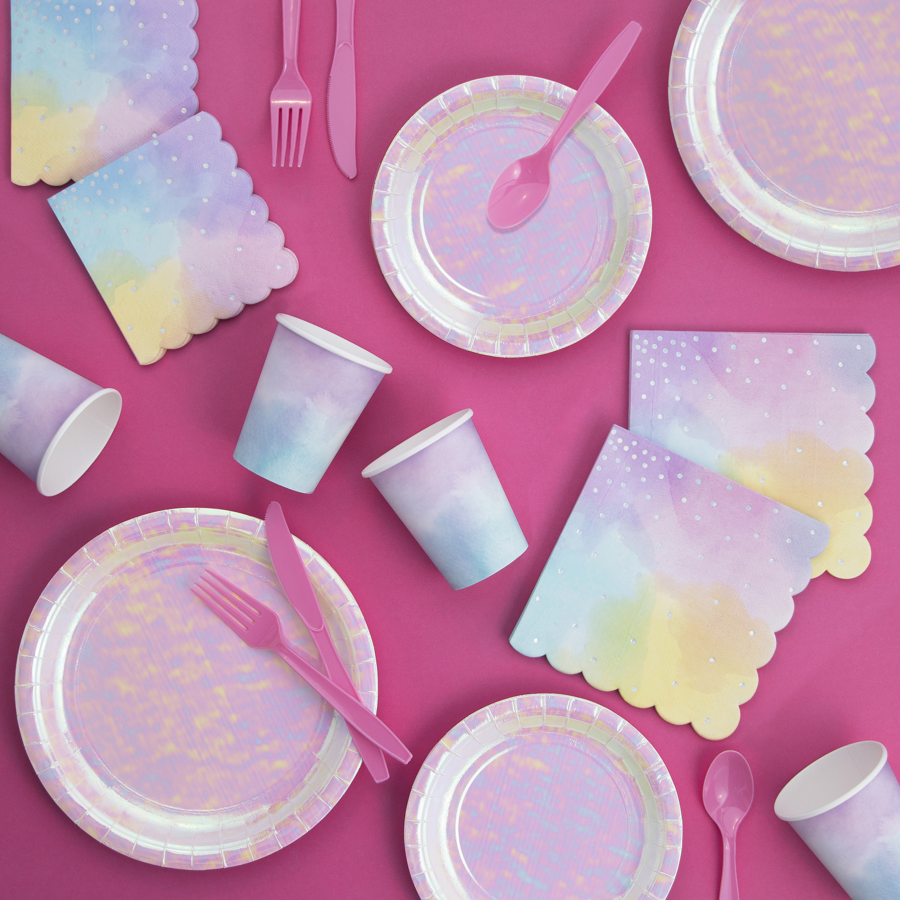 Iridescent Party Party Supplies Kit